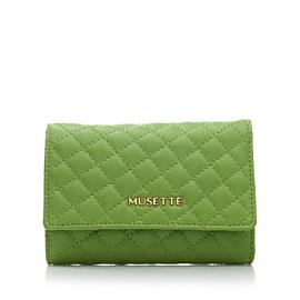 Portofel MICHELLE MATLASAT - verde